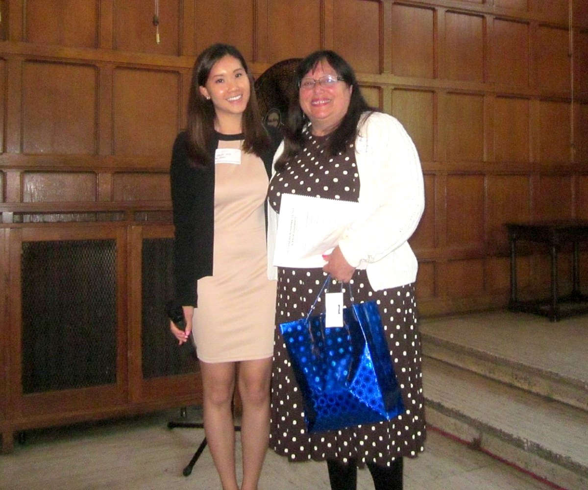 2015 PGSA President Shirley Poon with VIP Keynote Speaker Dr. Linda Dwoskin
